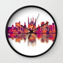 Kazan Russia Skyline Wall Clock