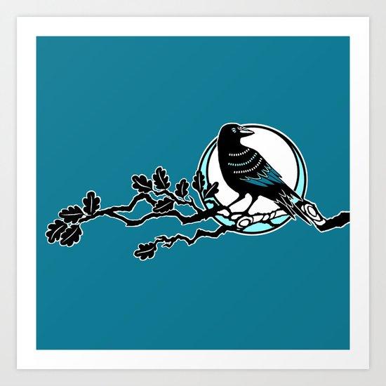 Crow and Oak Art Print