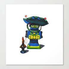 Robot-Bob Canvas Print
