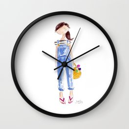 Overall Girl Wall Clock