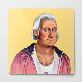 Hipstory -  George Washington Metal Print