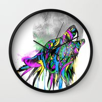 howl Wall Clocks featuring Howl by Kyle Naylor