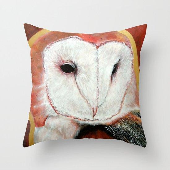 Dos Owl Throw Pillow