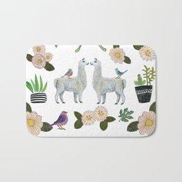 Llama and Luna Moth Bath Mat