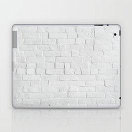 White Brick Wall - Photography Laptop & iPad Skin