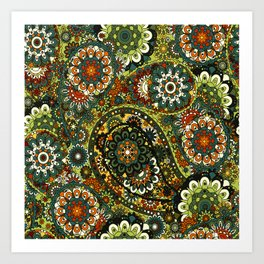 Floral Paisley Pattern Art Print