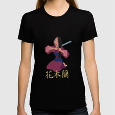 Mulan Womens Fitted Tee Black SMALL