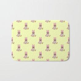 Pug dog in a rabbit costume pattern Bath Mat