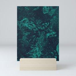 Teal Smoke - An Abstract Piece Mini Art Print