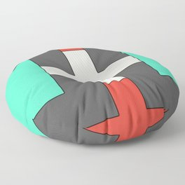 Minimalist Style Geometric Shapes Pattern Floor Pillow