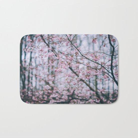 Cherry Blossom forest Bath Mat