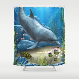 The World Of The Dolphin Shower Curtain