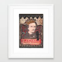 poe Framed Art Prints featuring Poe  by Tracy Delisle