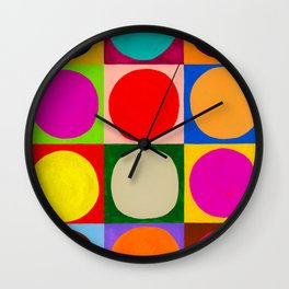 Twelve Circles Wall Clock