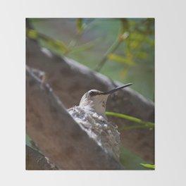 Hummingbird Momma Throw Blanket