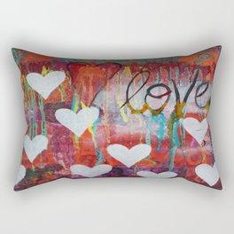 Floating Hearts Rectangular Pillow