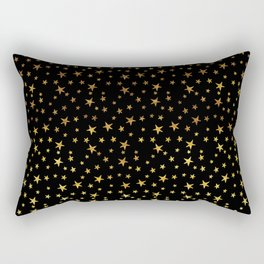 Mini Stars - Gold on Black Rectangular Pillow