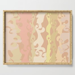 BRIGHT MARBLED STRIPES TEXTURE Serving Tray
