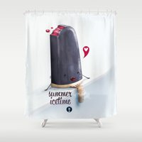 dracula Shower Curtains featuring Dracula by ito alon