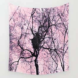 Pale Pink Long Island Forest Wall Tapestry