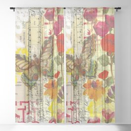 Beautiful Butterfly Sheer Curtain