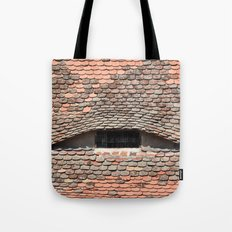 sibiu city romania traditional architecture detail roof tile eye Tote Bag