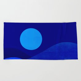Abstraction_Moonlight Beach Towel