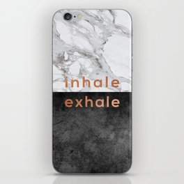 Inhale Exhale Copper iPhone Skin