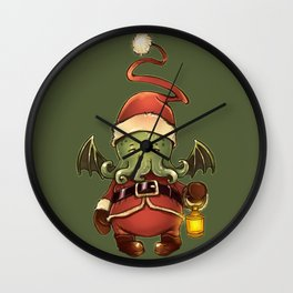 merry cthulhu Wall Clock