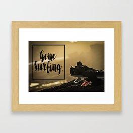 Gone Surfing Framed Art Print