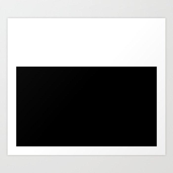 Color Block-Black and White Kunstdrucke