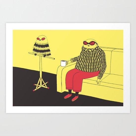 Owl Lookalike Art Print
