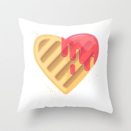 Tasty cookies in the shape of heart Throw Pillow
