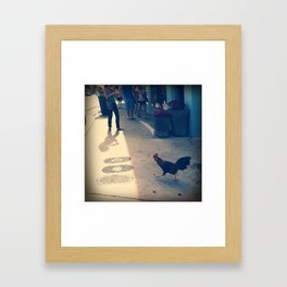 Christmas Rooster Framed Art Print