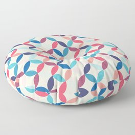 Blue and pink circles Floor Pillow