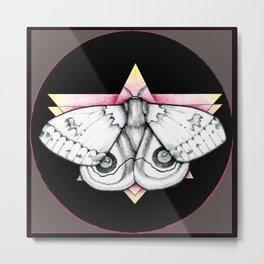 Automeris io - Io Moth Metal Print