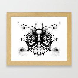 Rorschach's Wishes Framed Art Print