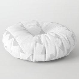 Swatchpattern White Rhombus Patterns Floor Pillow