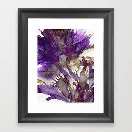 Exotic Purple Flower Framed Art Print