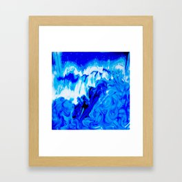 Fluid Abstract 32; Crashing Waves Framed Art Print