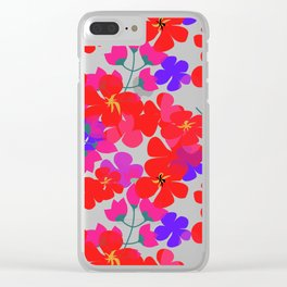 Geranium Fantasy Clear iPhone Case