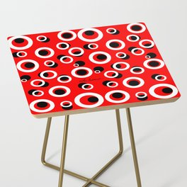 Red White Black Circles Side Table