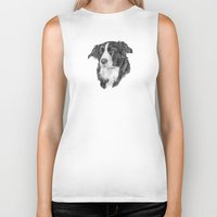 border collie Biker Tanks featuring Border collie 2 by Doggyshop