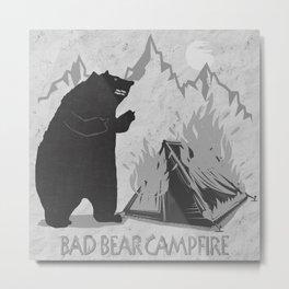 Bad Bear Campfire Metal Print