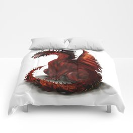 Challenger Lone Dragon Abstract Comforters