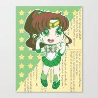 sailor jupiter Canvas Prints featuring Sailor Jupiter by strawberryquiche