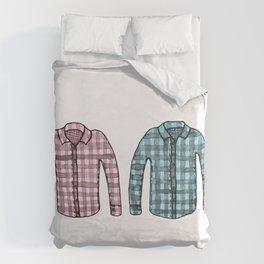 Flannel shirts Duvet Cover