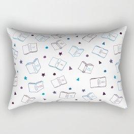 Classic Books Dark Blues & Purples Rectangular Pillow