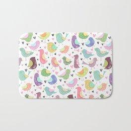 Seamless Bird Pattern Bath Mat