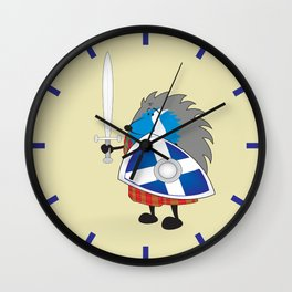Little brave scottish hedgehog Wall Clock